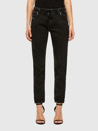 Diesel - Krailey JoggJeans 009FY, Nero/Grigio scuro - Jeans - Image 1