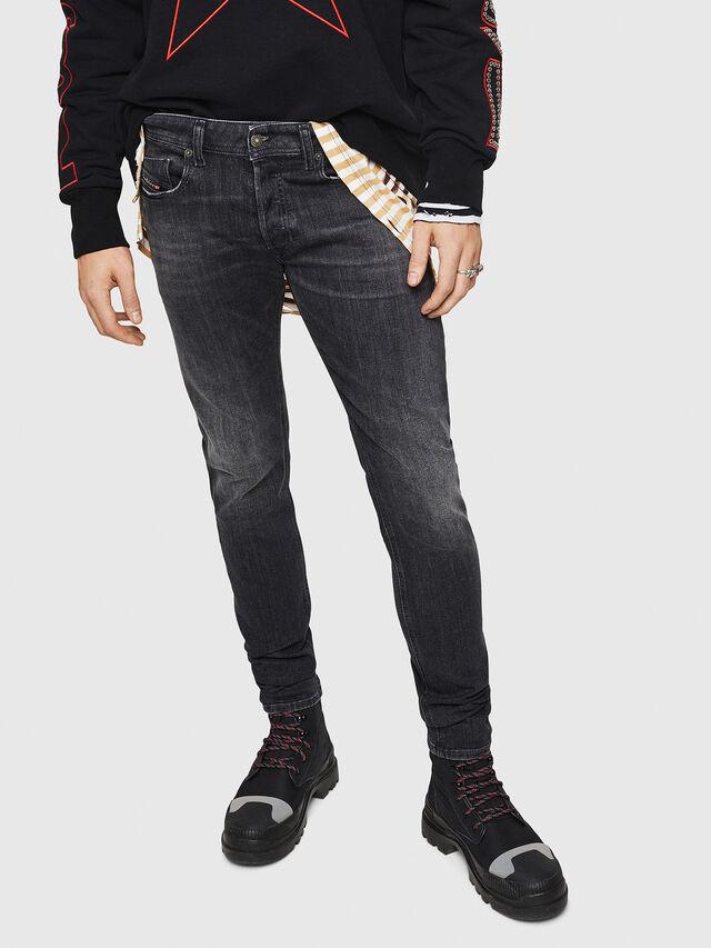 Diesel - Sleenker 084AT, Nero/Grigio scuro - Jeans - Image 1