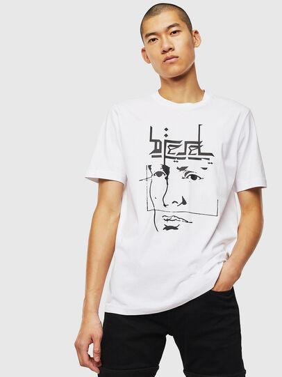 Diesel - T-JUST-J14, Bianco - T-Shirts - Image 1