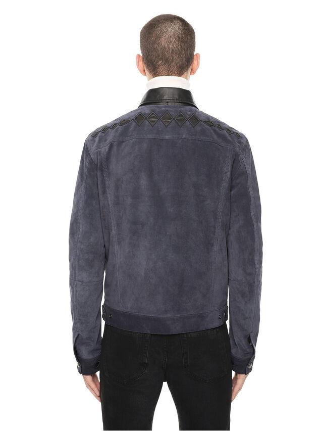 Diesel - LYRICH, Blu Scuro - Giacche di pelle - Image 2
