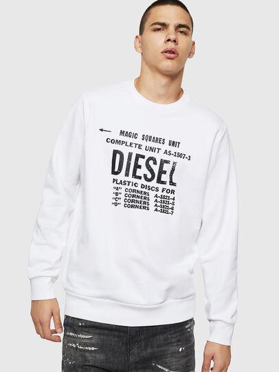 Diesel - S-GIR-B5, Bianco - Felpe - Image 1