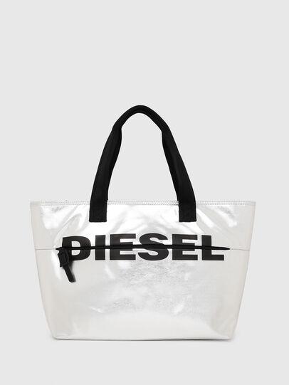 Diesel - F-BOLD SHOPPER II, Argento - Shopper e Borse a Spalla - Image 1