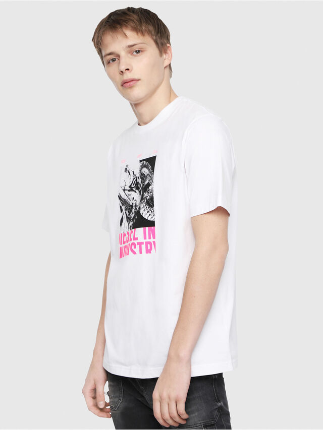 Diesel - T-JUST-Y3, Bianco - T-Shirts - Image 1