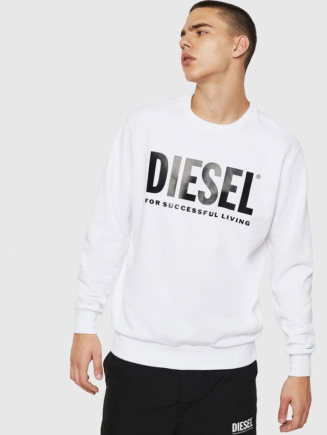 Diesel - S-GIR-DIVISION-LOGO, Bianco - Felpe - Image 1
