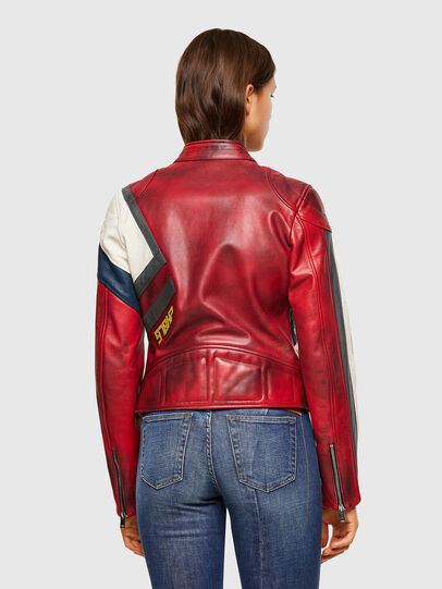 Diesel - L-POLLY, Rosso - Giacche di pelle - Image 2