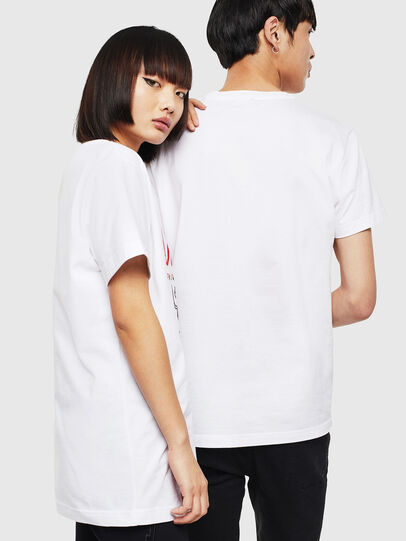 Diesel - CL-T-DIEGO-1, Bianco - T-Shirts - Image 3