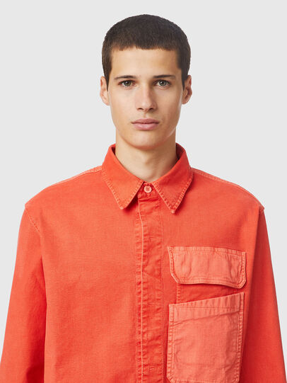 Diesel - D-HORU-SP JOGGJEANS, Arancione - Camicie in Denim - Image 3
