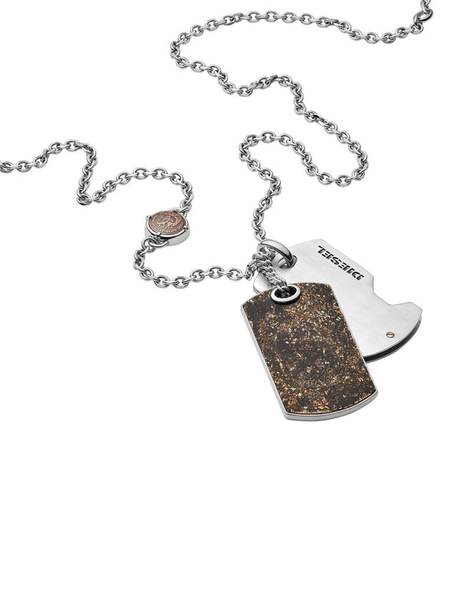 Diesel - NECKLACE DX1079, Bronzo - Collane - Image 2