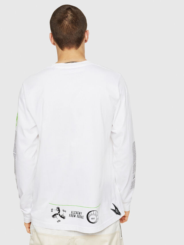 Diesel - T-JUST-LS-NEW, Bianco - T-Shirts - Image 2