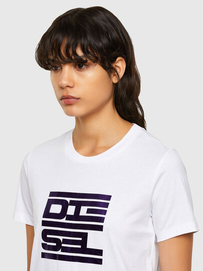 Diesel - T-SILY-K5, Bianco - T-Shirts - Image 3