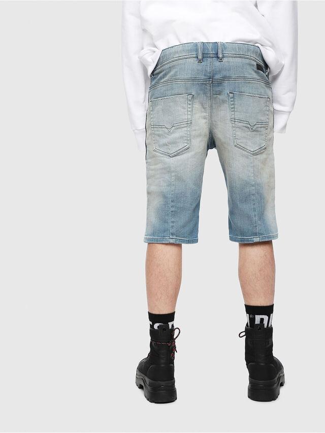 Diesel - D-KROOSHORT-T, Blu Chiaro - Shorts - Image 2