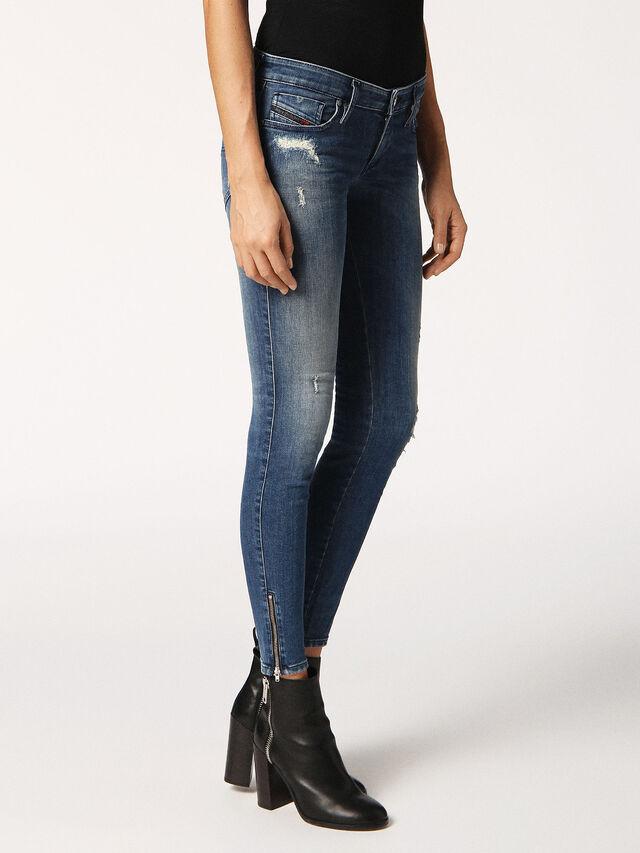 SKINZEE-LOW-ZIP 084MU, Blu Jeans