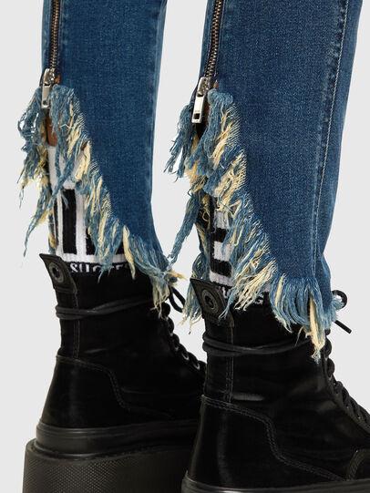 Diesel - Babhila-Zip 009EZ, Blu medio - Jeans - Image 4