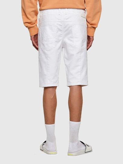 Diesel - D-KROOSHORT JOGGJEANS, Bianco - Shorts - Image 2