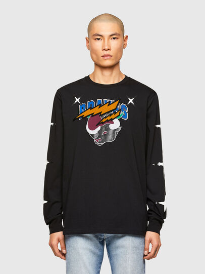 Diesel - CL-T-JUST-LS-O, Nero - T-Shirts - Image 1
