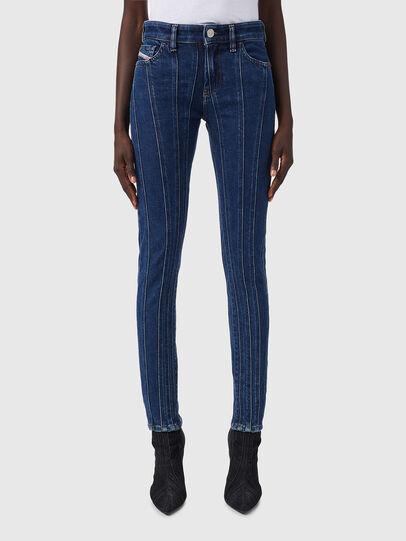 Diesel - Slandy 09B10, Blu medio - Jeans - Image 1