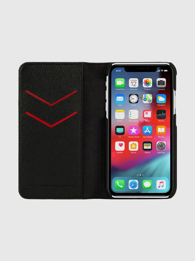 Diesel - DIESEL 2-IN-1 FOLIO CASE FOR IPHONE XR, Nero/Bianco - Cover a libro - Image 6
