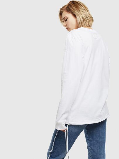 Diesel - T-HUSTY-LS, Bianco - T-Shirts - Image 4