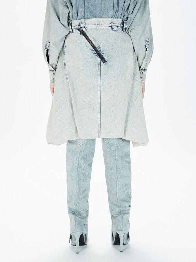 Diesel - SOBS01, Grigio Jeans - Gonne - Image 4