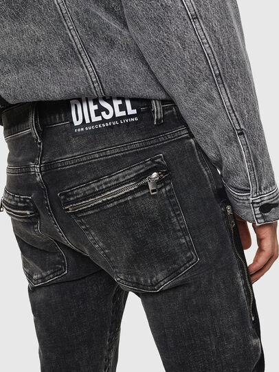 Diesel - D-Amny 0890T, Nero/Grigio scuro - Jeans - Image 7