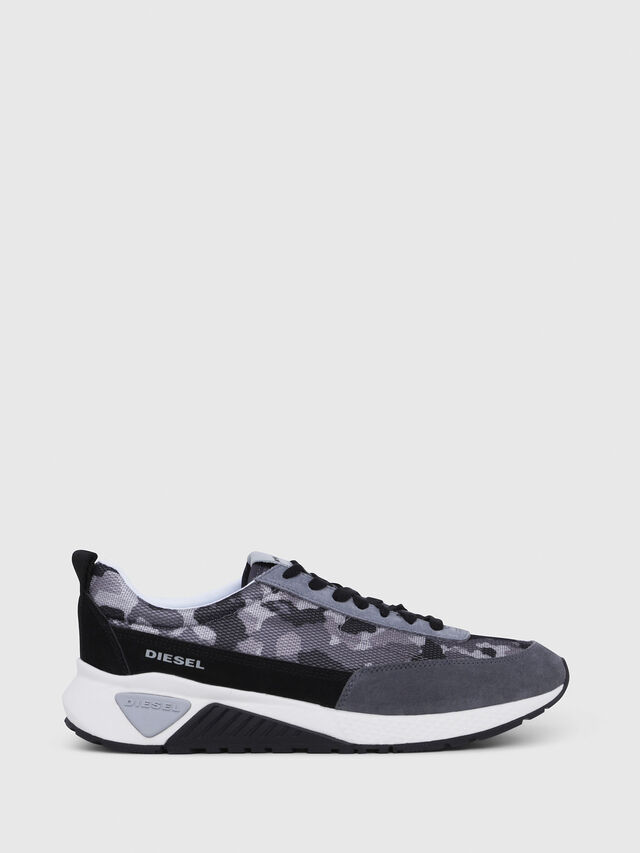 Diesel - S-KB LOW LACE, Grigio/Nero - Sneakers - Image 1