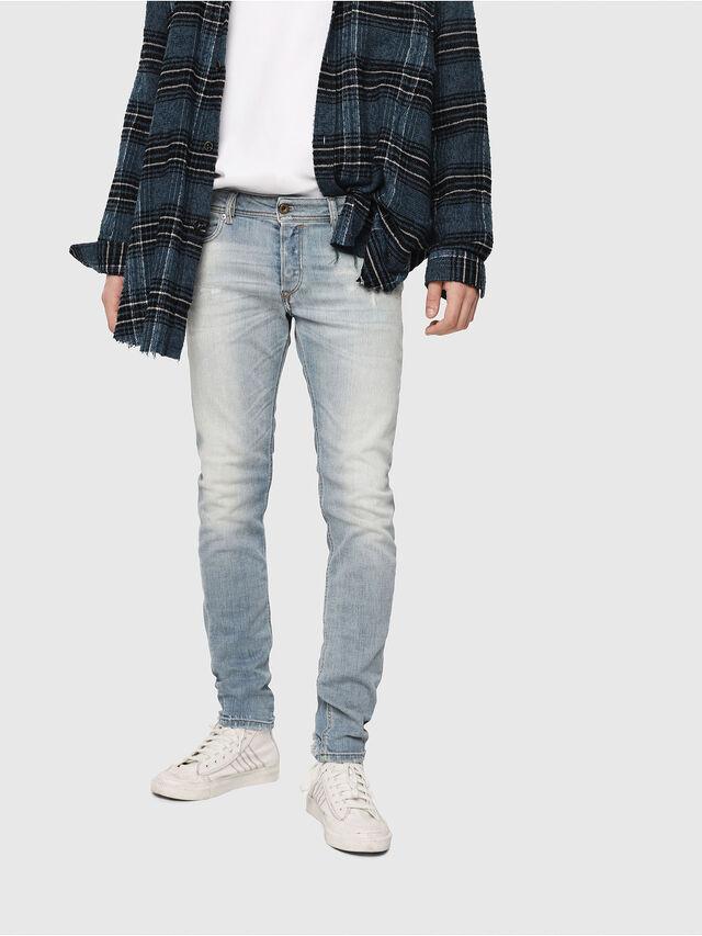 Diesel - Sleenker 081AJ, Blu Chiaro - Jeans - Image 1