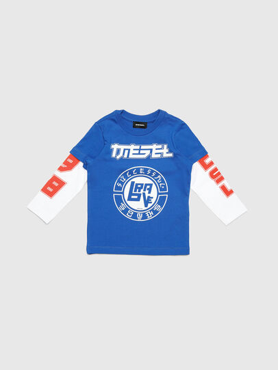 Diesel - TUCOB-R, Blu - T-shirts e Tops - Image 1