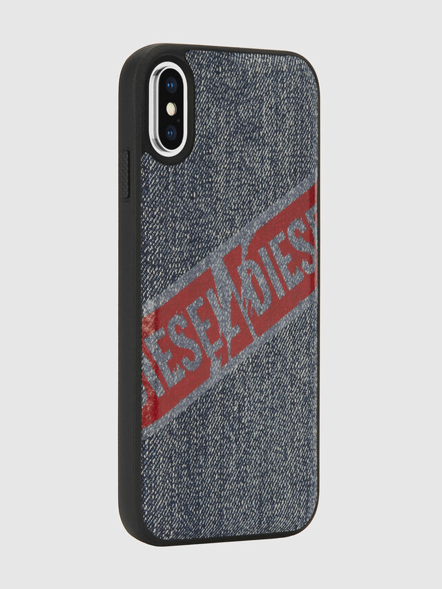 Diesel - VINTAGE DENIM IPHONE X CASE, Blu Jeans - Cover - Image 6
