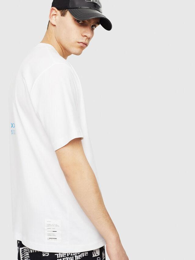 Diesel - T-JUST-Y23, Bianco - T-Shirts - Image 3