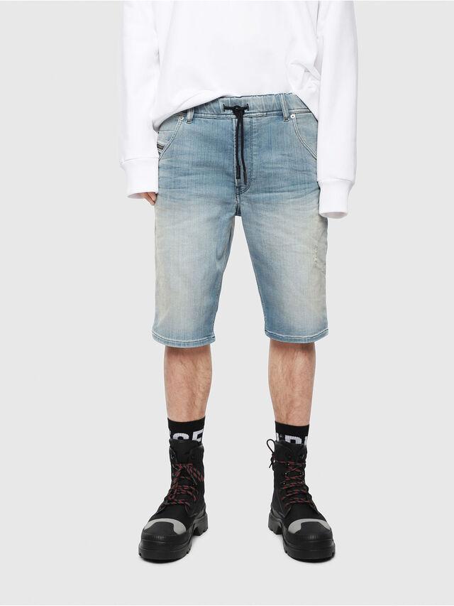 Diesel - D-KROOSHORT-T, Blu Chiaro - Shorts - Image 1
