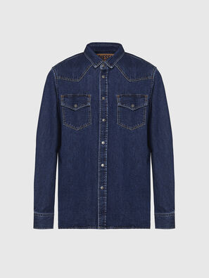 D-EAST-P, Blu Scuro - Camicie in Denim