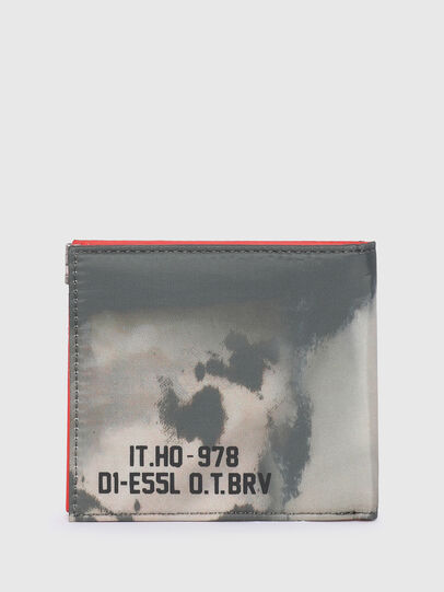 Diesel - HIRESH S SP, Grigio/Arancione - Portafogli Piccoli - Image 2