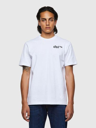 Diesel - T-JUST-B56, Bianco - T-Shirts - Image 1