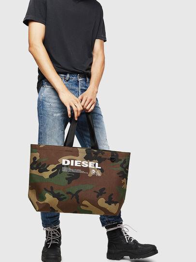 Diesel - D-THISBAG SHOPPER L, Verde Camo - Shopper e Borse a Spalla - Image 6
