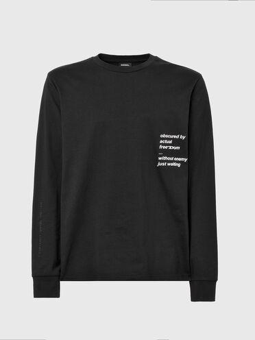 T-shirt a maniche lunghe con testo stampato