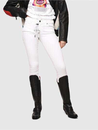 Diesel - Slandy 086AC, Bianco - Jeans - Image 1