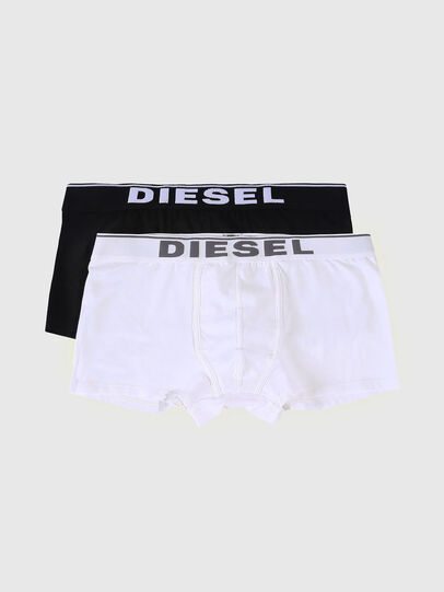 Diesel - UMBX-DAMIENTWOPACK, Nero/Bianco - Boxer stretch - Image 1
