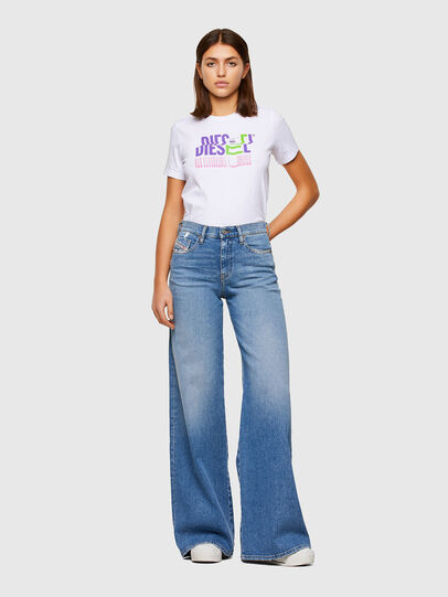 Diesel - T-SILY-K6, Bianco - T-Shirts - Image 4