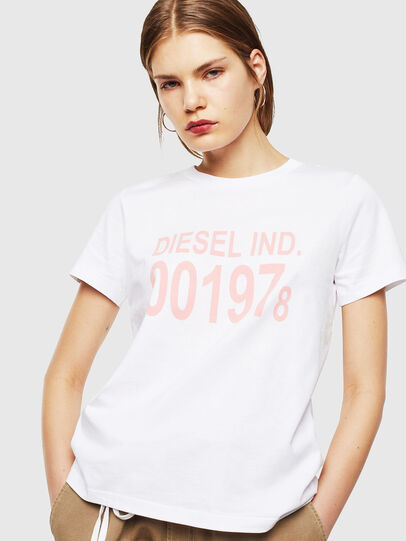 Diesel - T-SILY-001978, Bianco - T-Shirts - Image 1