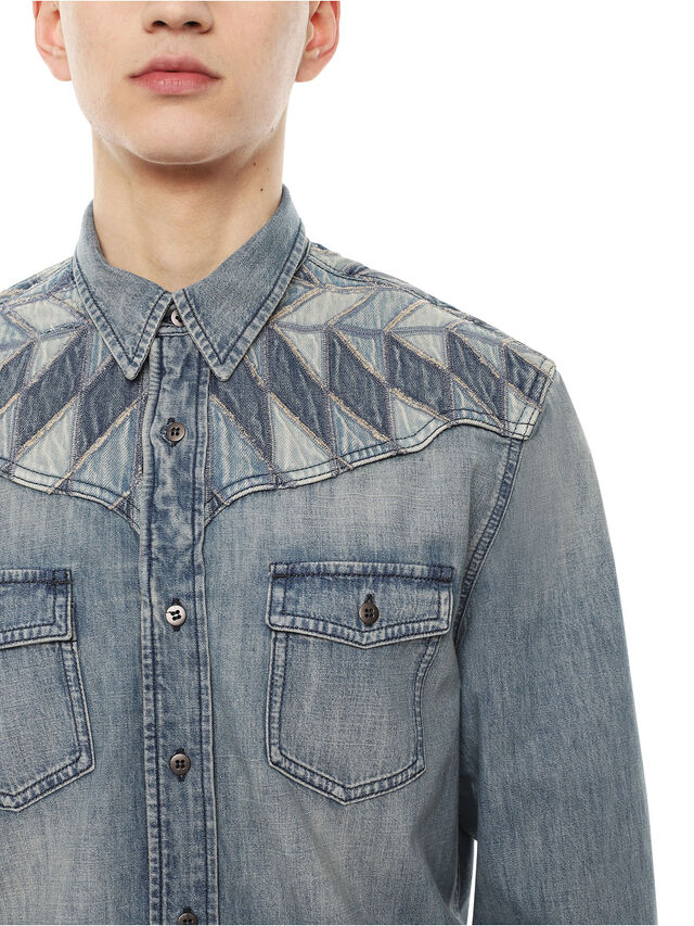 Diesel - SULLYVAN, Blu Jeans - Camicie - Image 3