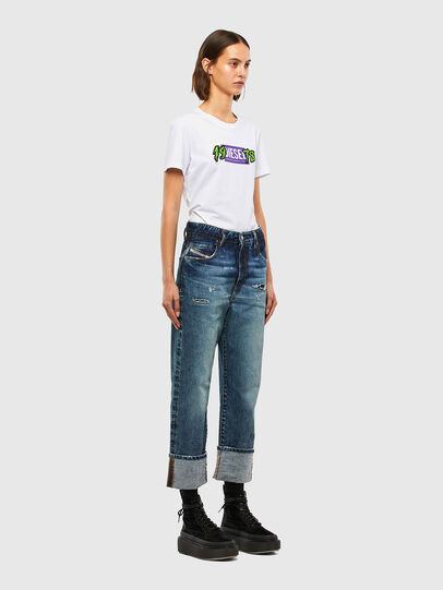 Diesel - T-SILY-K4, Bianco - T-Shirts - Image 4