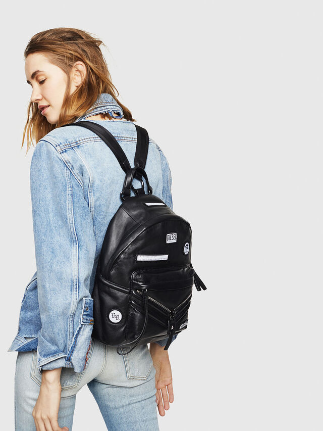 Diesel - LE-ZIPPER BACKPACK, Nero - Zaini - Image 5
