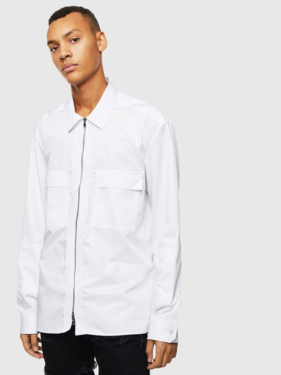 Diesel - S-PATCH-P, Bianco - Camicie - Image 1