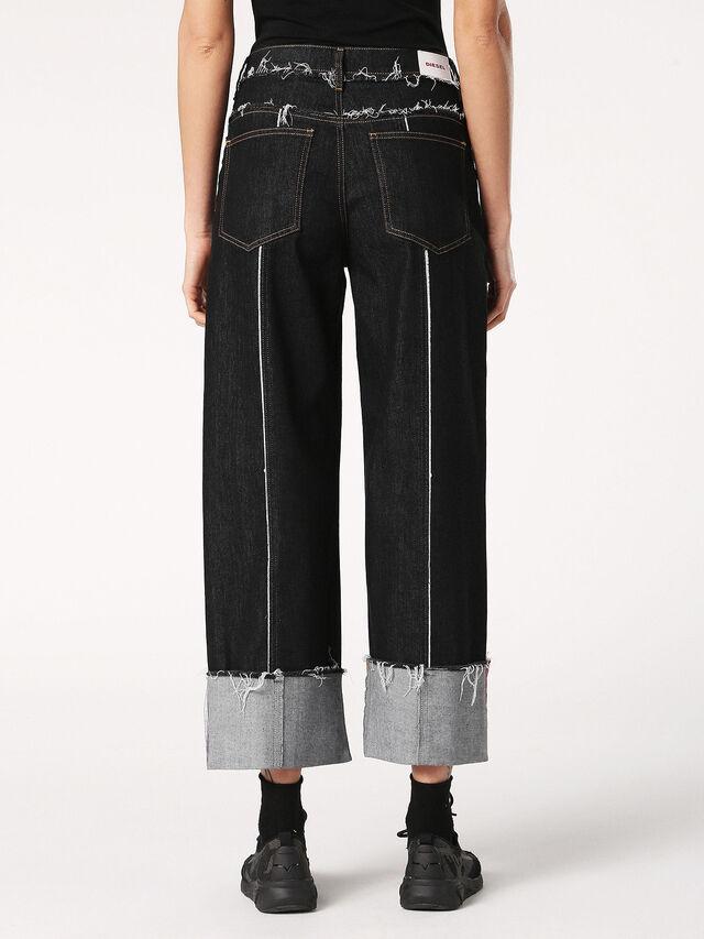 WIDEE-F 0699G, Nero Jeans