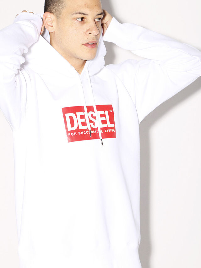 Diesel - DEIS-SHOOD, Bianco - Felpe - Image 7
