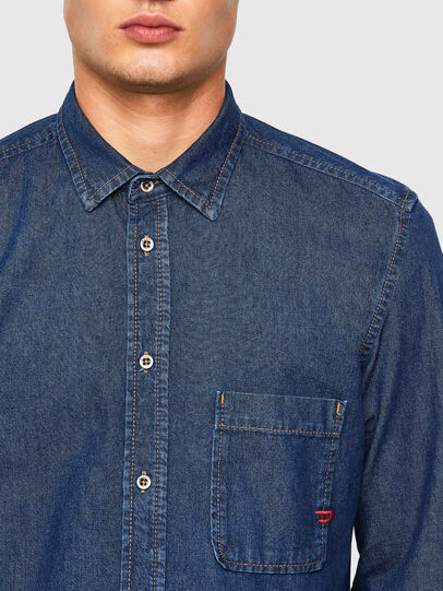 Diesel - D-BILLY, Blu Scuro - Camicie in Denim - Image 3