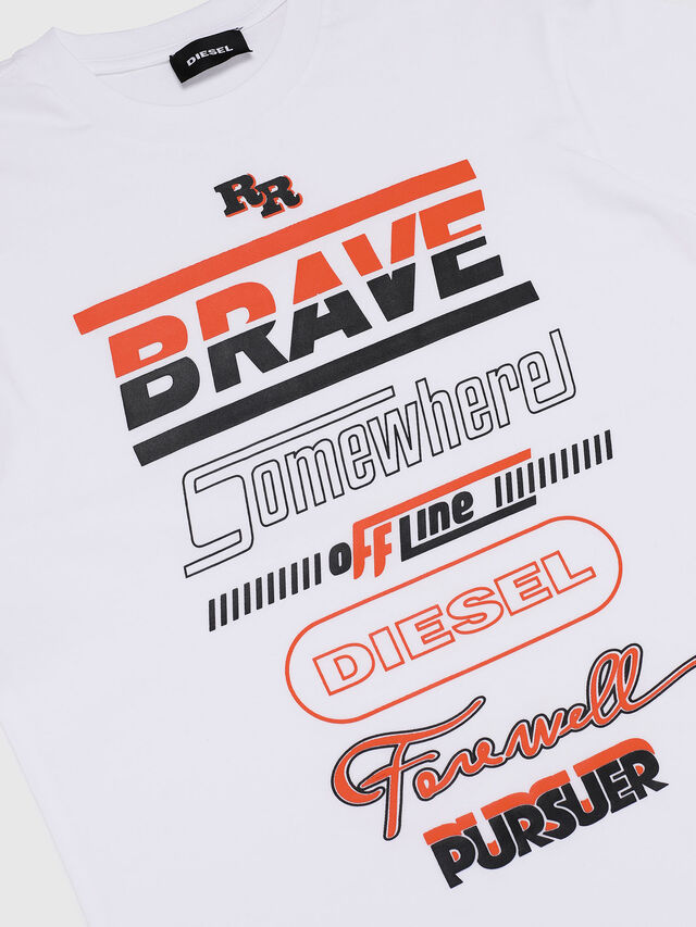Diesel - TDIEGOSP OVER, Bianco - T-shirts e Tops - Image 3