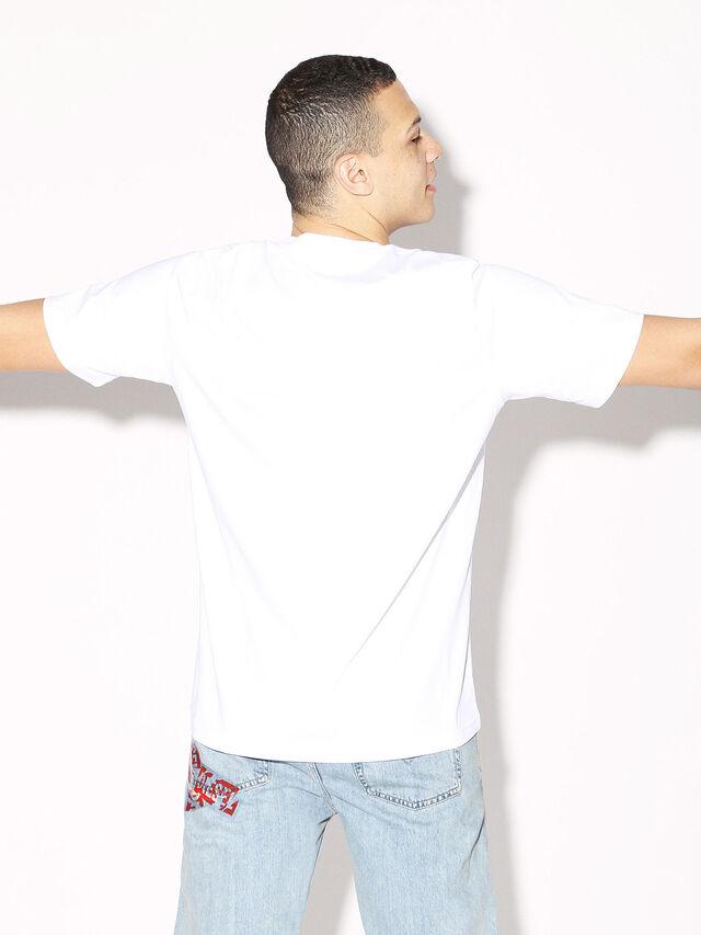 Diesel - DEIS-JUST, Bianco - T-Shirts - Image 5