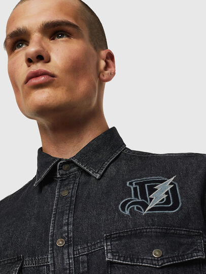 Diesel - D-BANDY-B, Nero - Camicie in Denim - Image 4