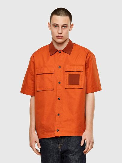 Diesel - S-GUNN, Arancione - Camicie - Image 1